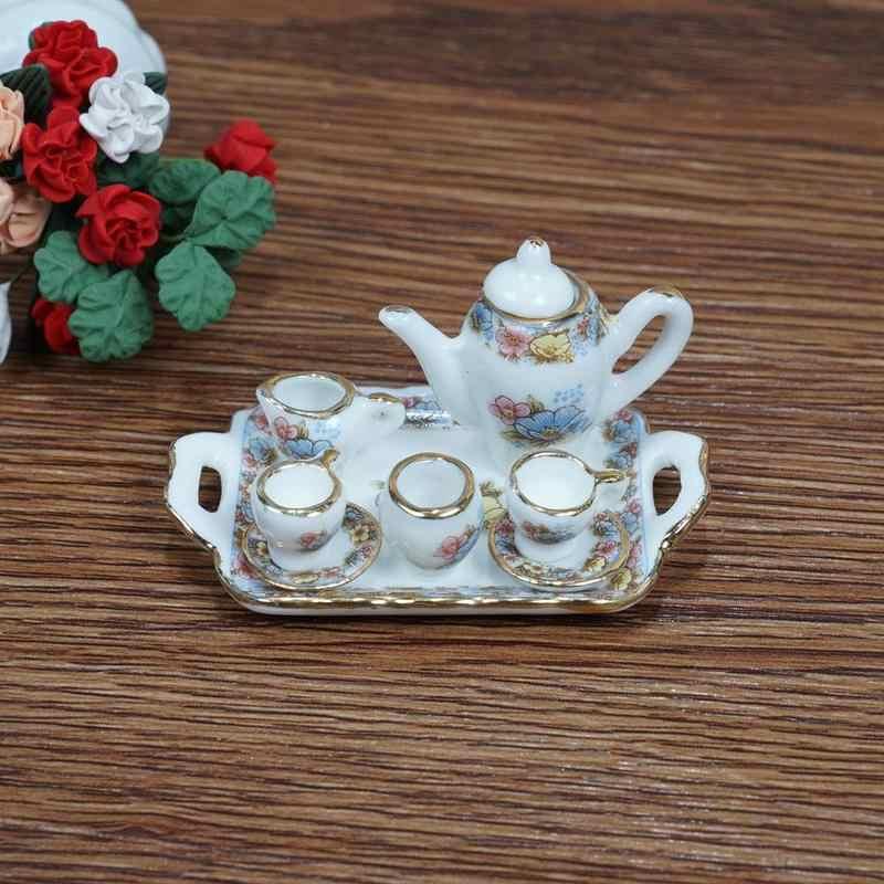 Dongzhur игрушка кукольный домик миниатюры 1:12 аксессуары мини фарфоровые наборы DIY ручной работы кукольный дом керамическое украшение