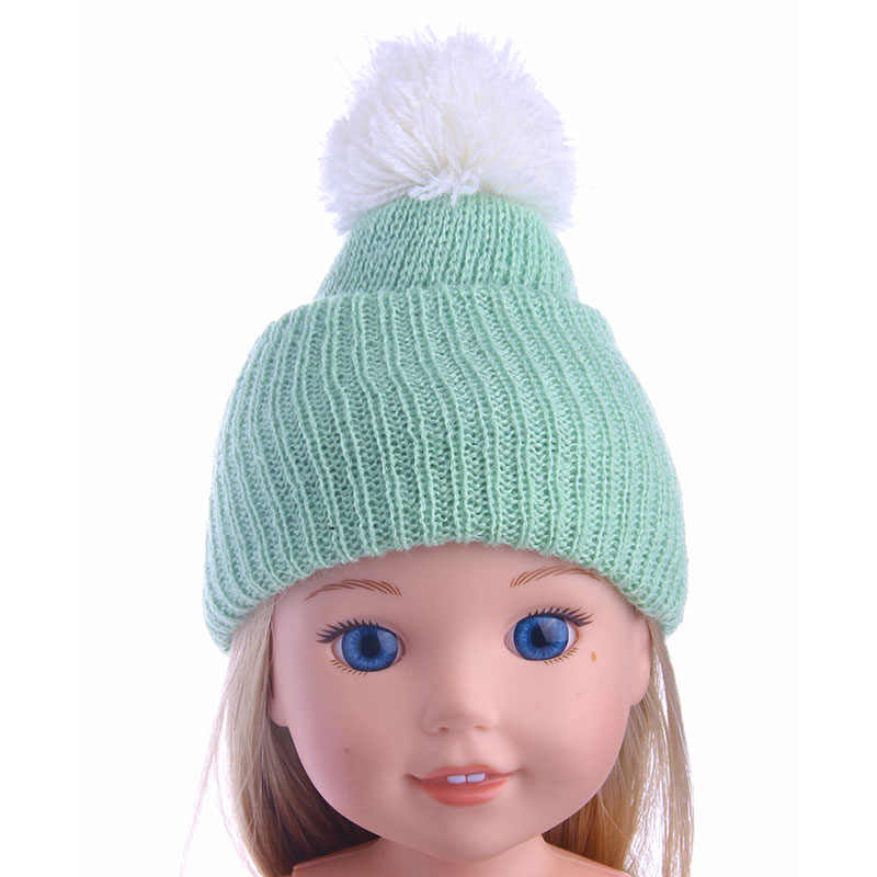 e1560c27f Fleta Doll hat doll Baby fashion knitted hat all-match Fit14.5