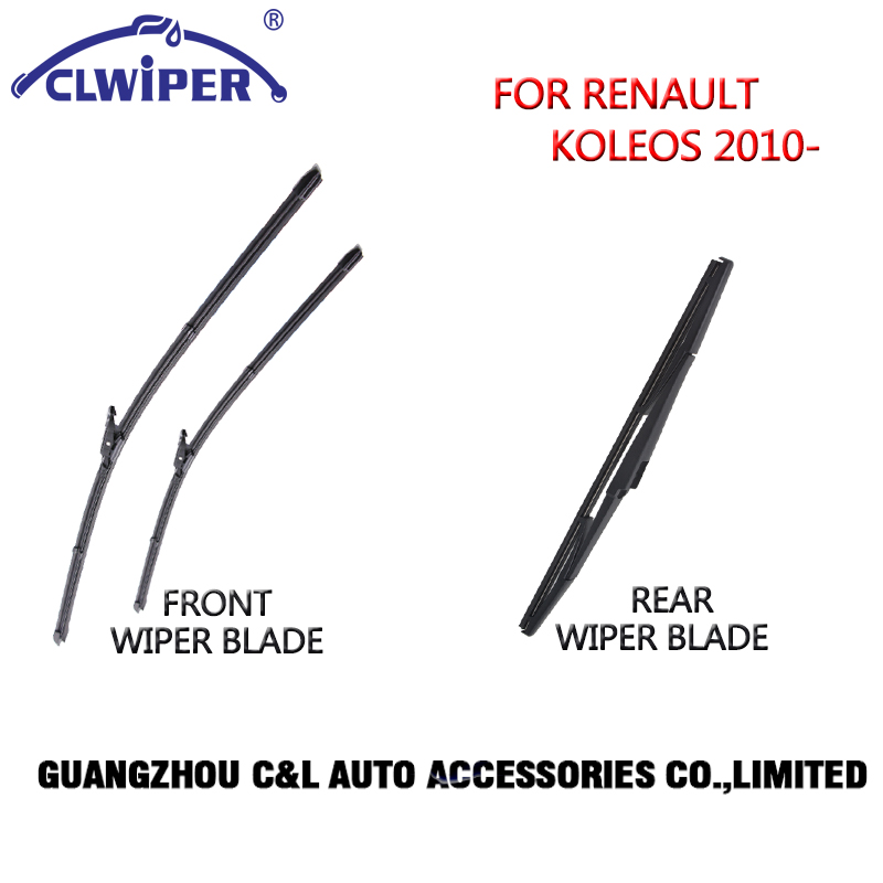 Front and Rear Wiper Blades For RENAULT KOLEOS(2008 ) 2009