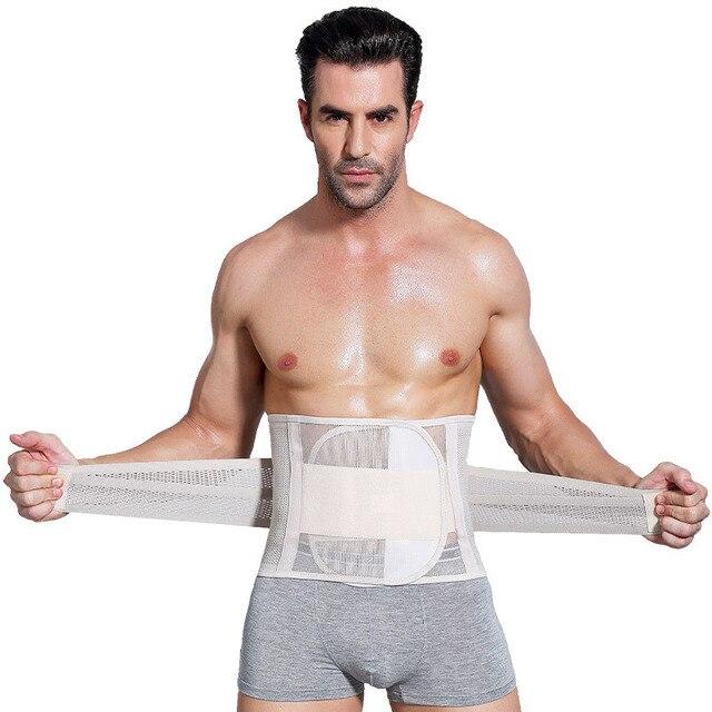 Men Shapewear Fat Slimming Belt Tummy Control Cincher Corset Stomach Body Shaper Mens Bodysuit Gym Waist Trimmer 1