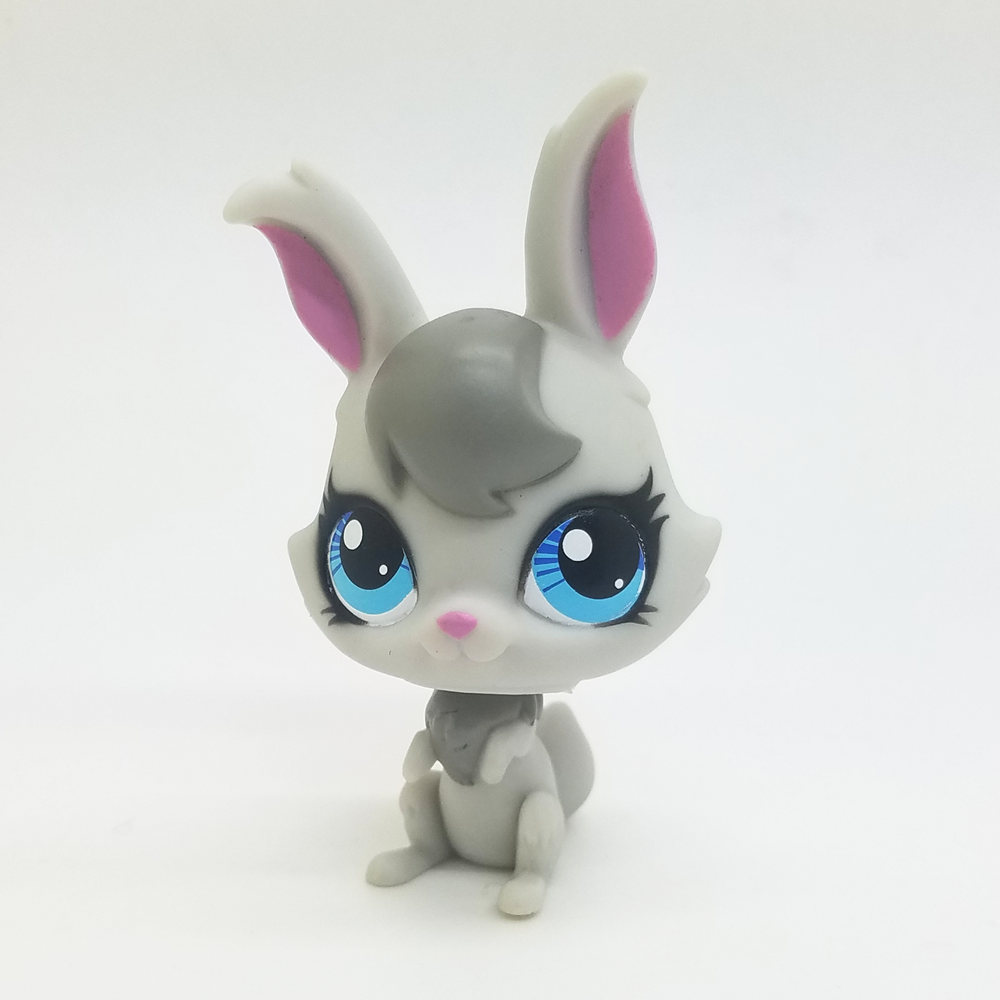 Original 1pc LPS cute toys Lovely Pet shop animal White Rabbit Grey Hair action figure littlest doll original and new 8inch lcd screen acd