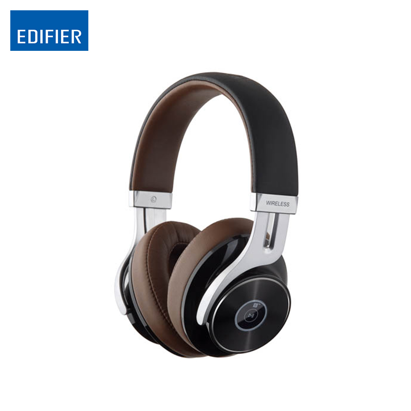 EDIFIER Bluetooth Headphones W855BT HIFI Over-Ear Noise Isolation Bluetooth4-1-Headphone With Microphone Support NFC Apt-X panasonic rp hde3mgc k in ear earphone stereo sound headphones headset music earpieces with microphone earphones super bass