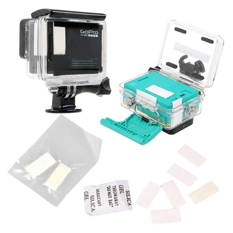 12 pçs anti nevoeiro inserções para gopro hero 7 5 6 8 preto xiaomi yi 4 k sjcam eken h9 caso câmera à prova dwaterproof água para ir pro acessórios