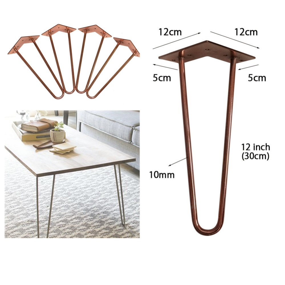 12 inches height Rhodium Metalwork red metal furniture leg,dia 10mm 3/8, high quality table stand,set of 4 high quality adjustable height protection vision for children learning set of table and chair