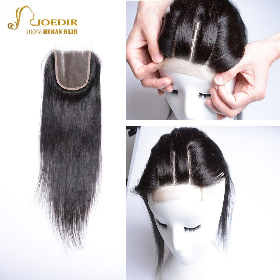 Joedir Hair Brazilian Straight 4x4 Snörning Med Babyhår Mänskligt - Skönhet och hälsa - Foto 1
