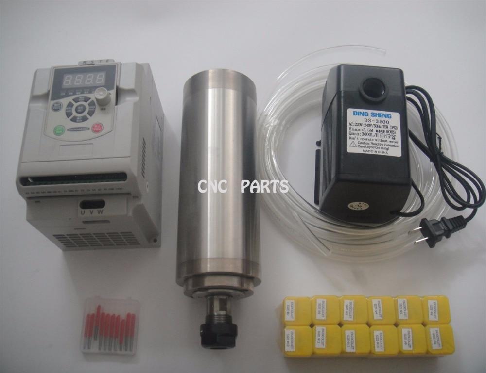 ⑧Spindel kit 2.2KW wasserkühlung spindel + KW wechselrichter + ER20 ...