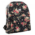 Preppy Style Floral Pattern Canvas Backpack Girl's Women's Backpack Schoolbag Travel Bag Rucksack Leisure Travel School Bags