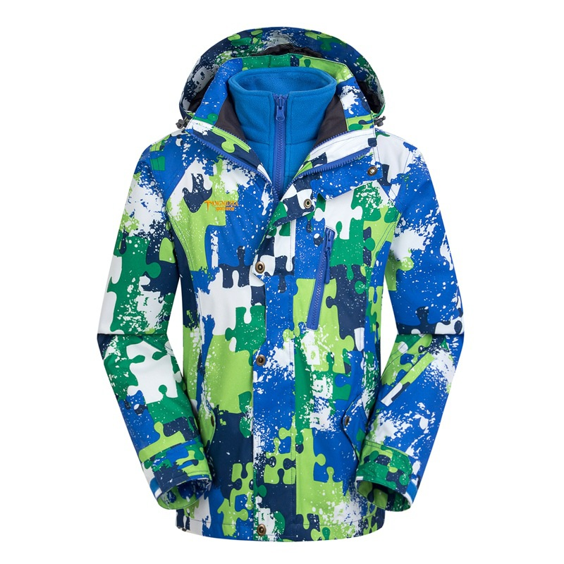 Waterproof Index 15000mm Windproof Boys Girls Jackets Warm Coat Children Outerwear Sporty Double deck For 5