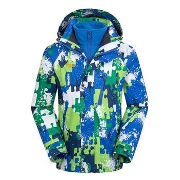 Waterproof Index 15000mm Windproof Boys Girls Jackets Warm Coat Children Outerwear Sporty Double-deck For 5-14 Years Old Winter Outwear & Coats