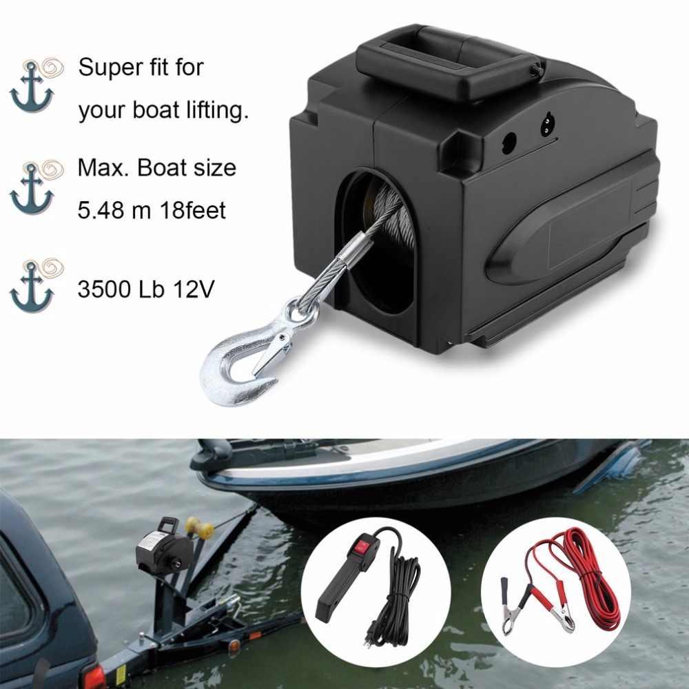 (Navire DE DE) professionnel 3500 Lb 12V câble électrique bateau treuil moteur treuil avec télécommande accessoires puissants
