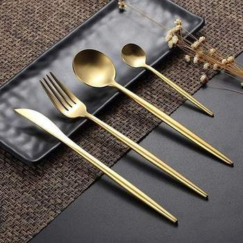 304 Stainless Steel Western Silverware Cutlery Set Noble Fork Knife