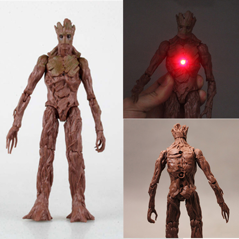 21cm Adult LED Groot Tree Man Funko Pop Guardians of the Galaxy Action Figure Collection Toys With No Original Box new funko pop guardians of the galaxy tree people groot