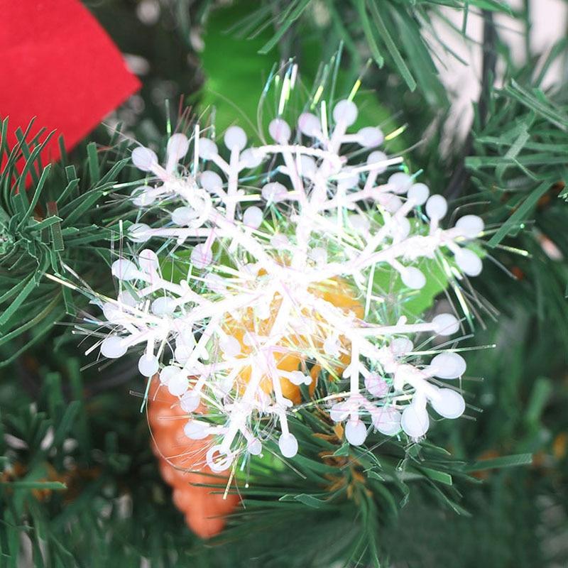 30Pcs White Snowflake Ornaments Christmas Holiday Festival Party Home Decor      E2shopping