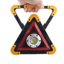 Energy saving high brightness Triangle Warning Light Portatile Car repairing Portable Work Rechargeable Flood Searchlight