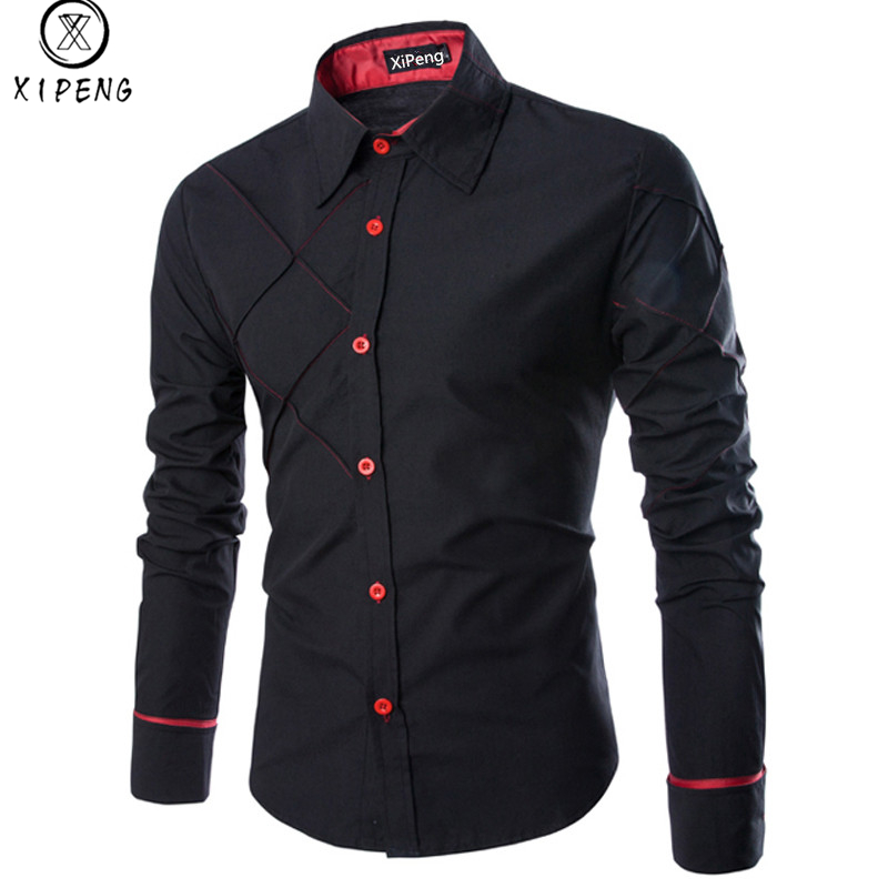 Männer Hemd 2018 Frühling Neue Markengeschäft männer Slim Fit hemd Männlichen Long sleeve Striped Shirt camisa masculina Größe M-3XL