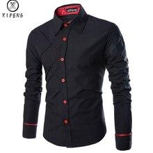 Для мужчин 2018 Весенние Новые брендовые Бизнес Для мужчин Slim Fit платье рубашка мужской с длинным рукавом Рубашка в полоску camisa masculina Размеры m-3XL