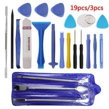 Hand Tool Set 3pcs/19pcs Repair Tool Kit Opening Tool Metal Pry Bar Smartphone S