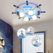 Corsair Дети Спальня Верхнего Света руль творческий мальчик комната потолочный светильник led защита глаз luminaria teto 220-240 В