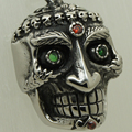 unique green eyes king skull 316L stainless steel biker  necklaces & pendants free shipping men jewelry