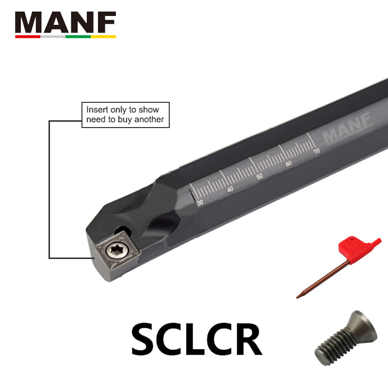 MANF Turning Tool SCLCR S10K-SCLCR06 Internal Lathe Boring Bar Tungsten Carbide Tools For CCMT06 CCMT09 Turning Inserts