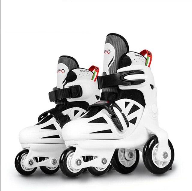 4de884e39e0 Crianças Adoráveis Crianças Equilíbrio Estável UNBreak Paralelo Piscando  Patins de Gelo Sapatos Slalom Ajustável Lavável Para