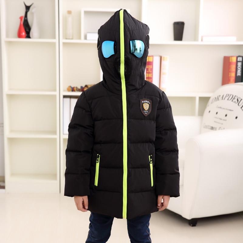 ФОТО manteau garcon hiver Coat Baby Long Sleeve Jacket snowsuit Kids baby parka coat jacket with glasses jurk meisje girls down