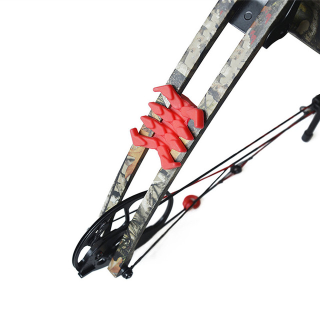 New Outdoor Hunting Shooting 2Pcs Archery Crab Compound Bow Stabilizer Rubber Bow Vibration Limb Damper Arrow Shock Damping