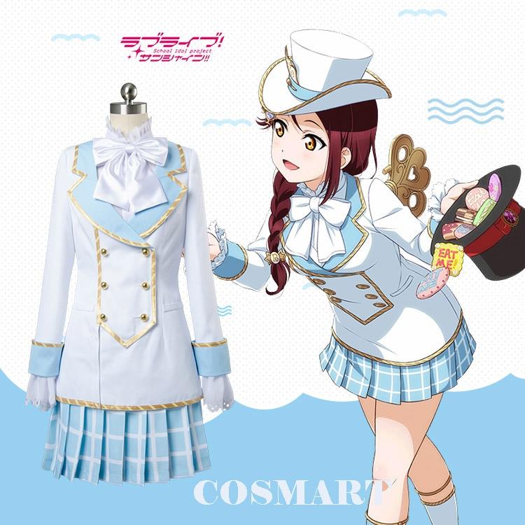 [Customize]Anime Love live Sunshine! Aqours figure Sakurauchi Riko Incredible Country Maid Dress Cosplay costumes for women NEW