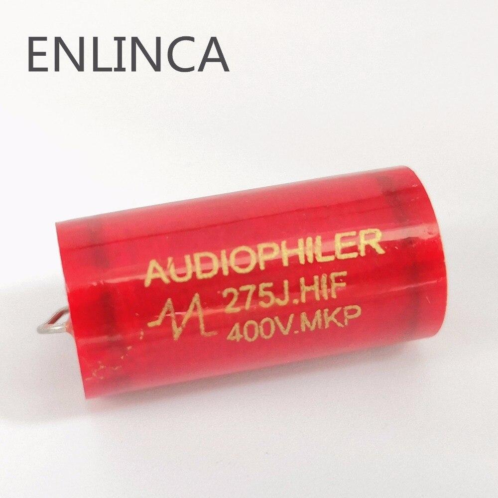 1-10pcs/lot Audiophiler Axial MKP 400v 0.47uf 1uf 1.5uf 2.2uf 2.7uf 3.3uf 4.7uf 5.6uf 6.8uf 8.2uf 10UF Tubular Audio Capacitor