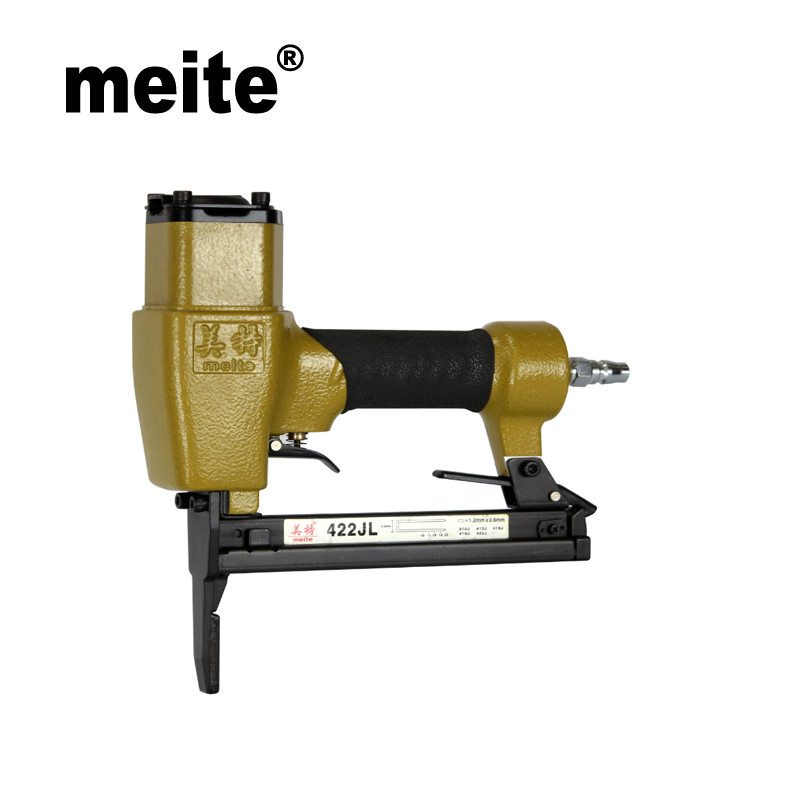 Meite 422JL 1/4 pneumatic stapler nailer gun 20 ga air stapler fine wire stapler for leather furniture Oct.24 Update Tool meite bw120 length 48 5mm heat insulating nailer pneumatic air nailer gun for fixing outer wall in cold places sep 9 update