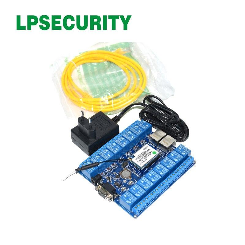 Controlador de tablero de relé LPSECURITY 16 canales LAN WAN WiFi/módulo de relé WiFi/control remoto inalámbrico interruptor de relé doméstico inteligente UE/WiFi inteligente pared luz Dimmer interruptor regulador de vida inteligente/Tuya Control remoto APP funciona con Alexa de Amazon y Google