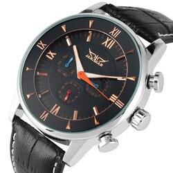 Automatyczne mechaniczne zegarki własny wiatr dla mężczyzn luksusowy szkieletowy zegarek rzym tarcza z cyframi z kalendarzem mechaniczne zegarki na rękę