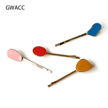 GWACC Trendy Cute Macaron Hair Clips For Women Girls Pins Candy Color Elegant Korean Design Simple INS Hairwear Accessories
