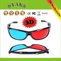 Marco de plástico rojo y Azul gafas anaglifo Película DVD Del Juego de vídeo moive gam Gafas 3D para 3D TV Proyector, Envío Libre al por mayor