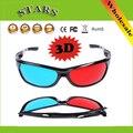 Red & Blue frame plástico óculos de vídeo gam moive Óculos 3D anaglífico Movie DVD Do Jogo em 3D para TV 3D Projetor, Frete Grátis por atacado
