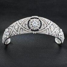 Royal Replica Tiara จริงคริสตัลออสเตรีย,เจ้าหญิง Meghan งานแต่งงานเจ้าสาว Tiara Crown Headpieces HG078