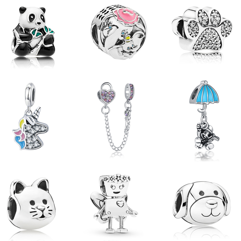Beads Free Economic Shipping 925 Sterling Silver Bead Animal Charm Fit Original Pandora Bracelet 2018 Hot Sell Diy Jewelry Charms
