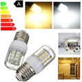 Venda quente E27 27 LED 5730 SMD Super Branco Brilhante Luzes Spotlight Warm White Energy Saving Milho Lâmpada Lâmpada DC12V