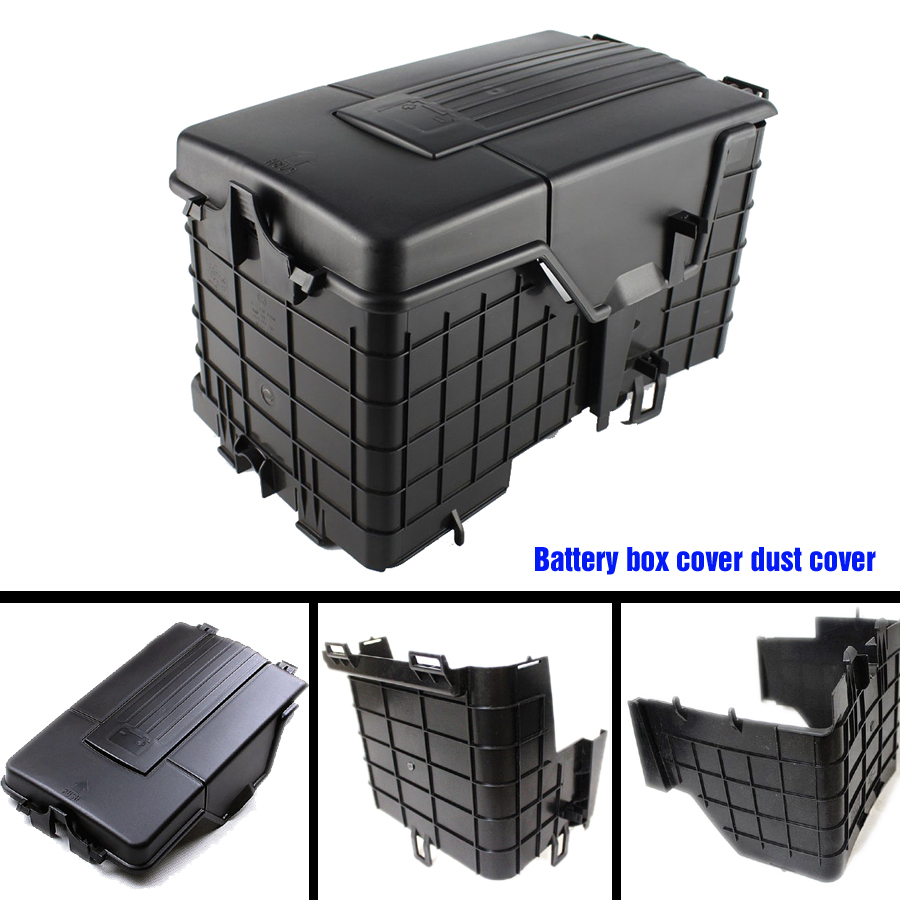 3PCS TUKE OEM font b battery b font sheathing assembly dust cover Pour VW Jetta Golf