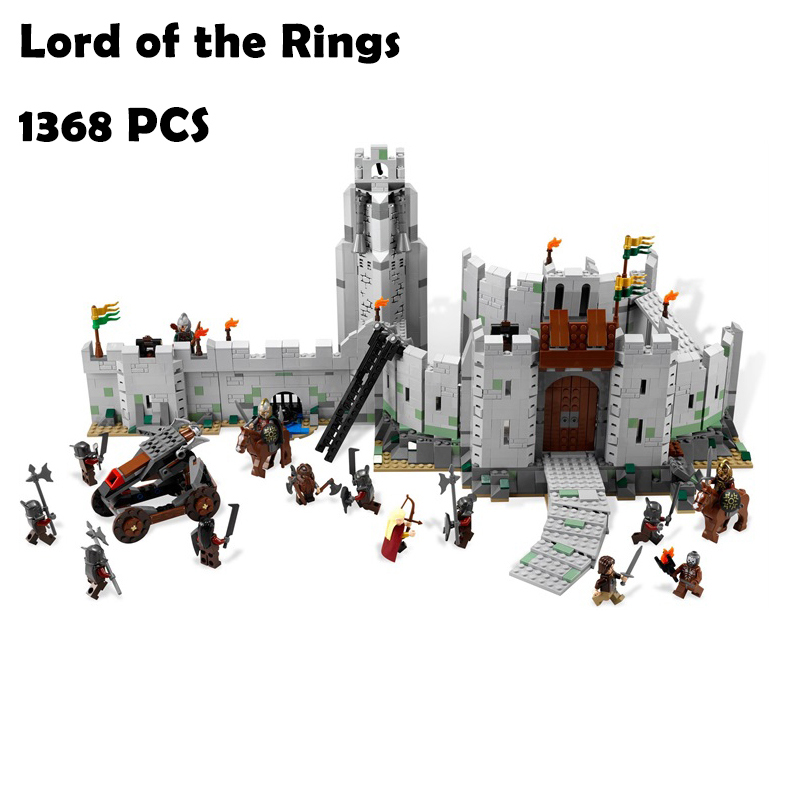 16013 1368Pcs Model Building Blocks toys The Lord of the Rings Series The Battle Of Helm' Deep compatible with lego 9474 commutativity of rings with derivations