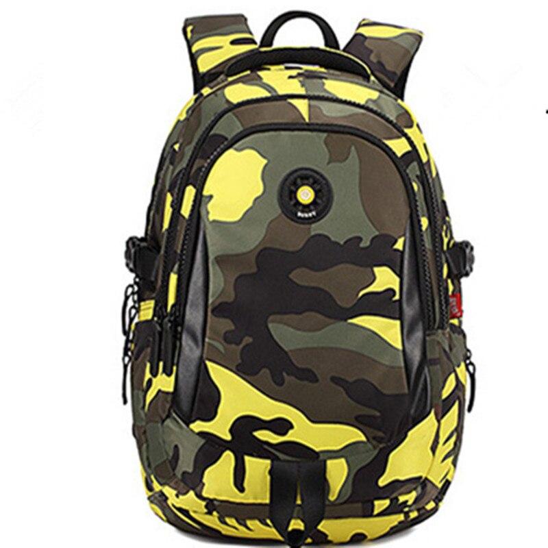 SUNNY Korean version camouflage casual shoulder burden reduction students school bags children leisure travel backpack schoolbag
