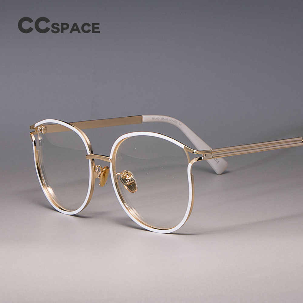 24debe7f64a6 Ladies Cat Eye Glasses Frames For Women Metal frame UV400 Designer Optical  Fashion Eyewear Computer Glasses