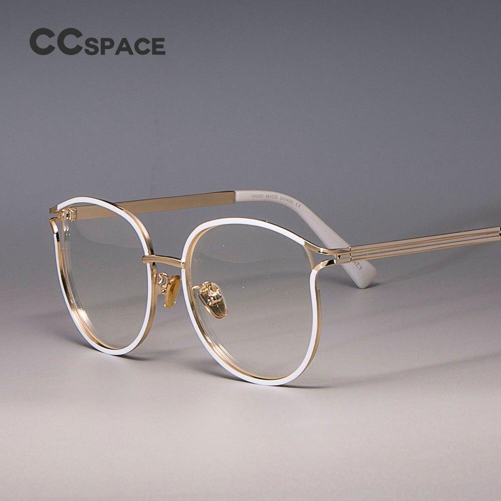 Monturas para gafas de gato para mujer, marco de Metal, gafas ópticas de moda, gafas para ordenador 45257