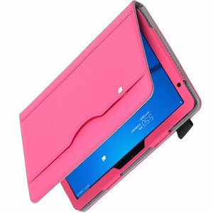 """Image 4 - Luxury Stand Case For Huawei MediaPad M5 lite 10 BAH2 W19/L09/W09 10.1"""" Tablet Cover With Hand Belt For Huawei M5 Lite 10 Case"""