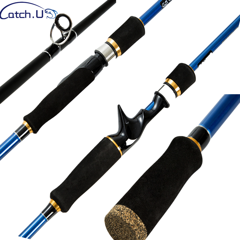 Catch.U 1.8m 2.1m 2.4m Spinning Fishing Rod Telescopic Carbon Ocean Beach Fishing Rods Spinning Baitcasting Rod