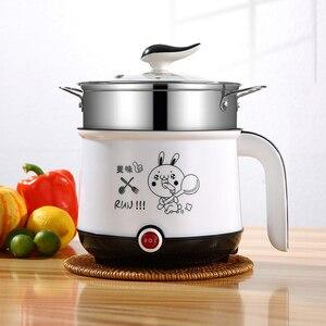 Image 4 - Мини рисоварка, 220 В, электрическая машина для приготовления пищи, в наличии один/два слоя, многофункциональная электрическая рисоварка с горячим горшком, ЕС/Великобритания/Австралия/США