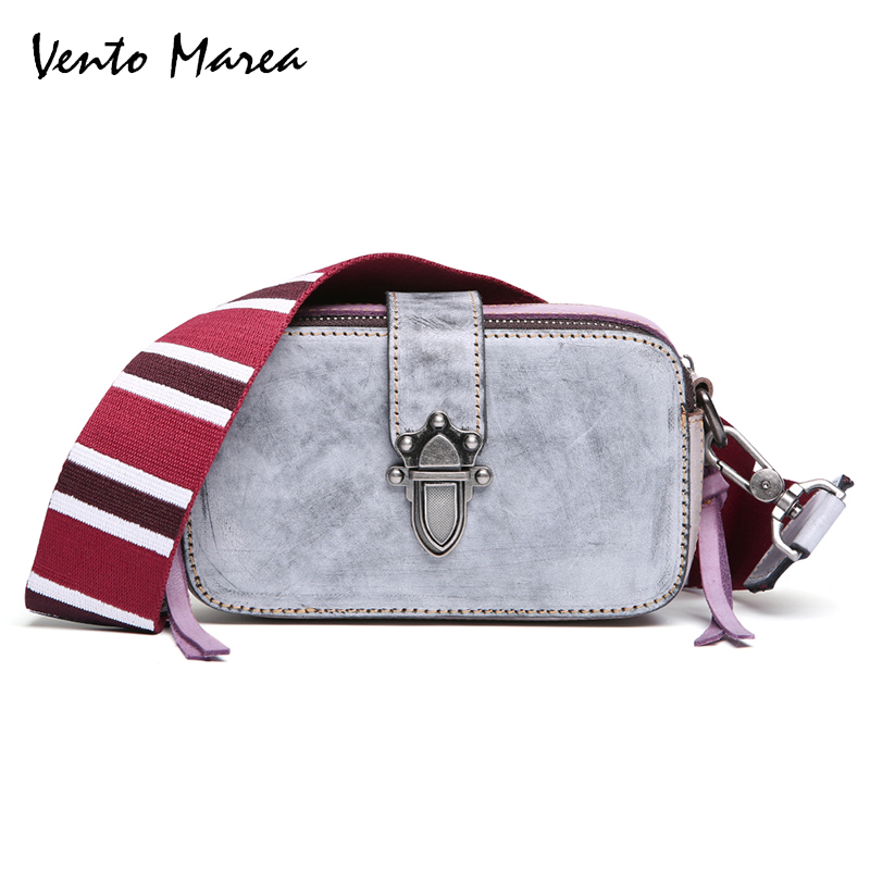 Vento Marea Women Handbags Shoulder Bags Genuine Leather Casual Handbag Messenger Bag Bucket Bag Large Capacity Top-Handle Bags 2018 new fashion top handle bags women cowhide genuine leather handbags casual bucket bags women bags rivet shoulder bags 836