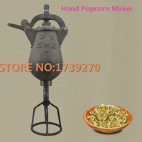 Chinese 1.5kg/time Hand Popcorn Maker Corn Maize Popping Machine Rice Puffed Machine/Popcorn Popper