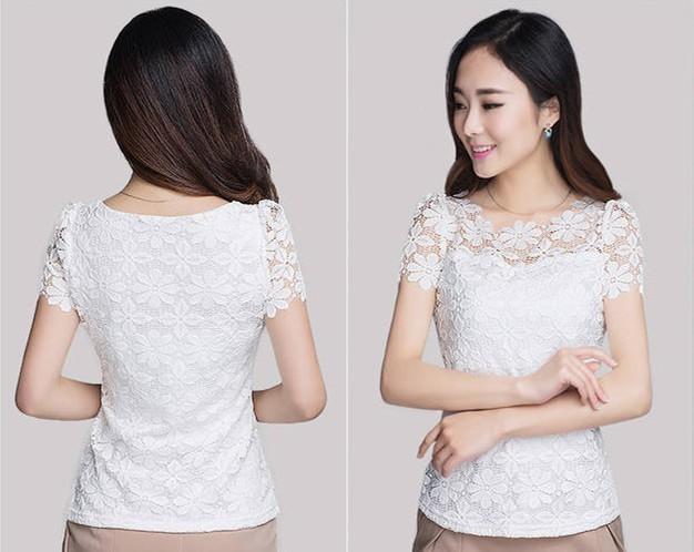 HTB1M8MmHXXXXXbPXFXXq6xXFXXXd - Short Sleeve Tee Shirt Top Clothing Lace Blouse Sexy Floral