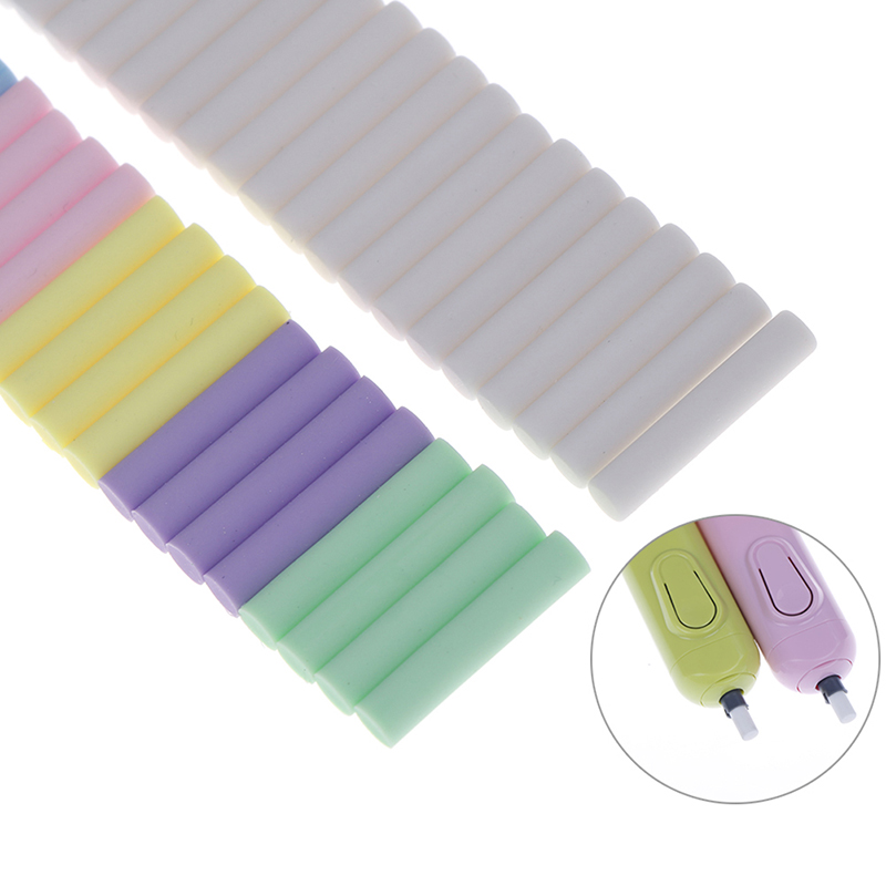 20Pcs/Set Replacement Eraser Refills For Battery Operated Electric Eraser Students Stationery School Office Supplies